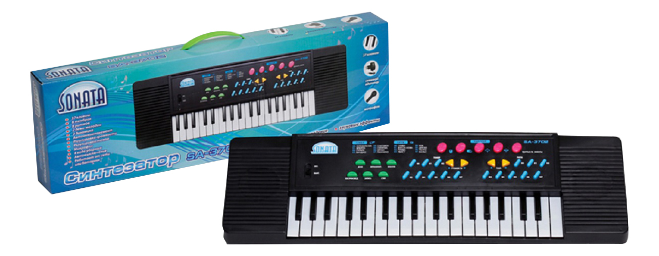 Синтезатор игрушечный 37 клавиш Sonata SA-3702 фото