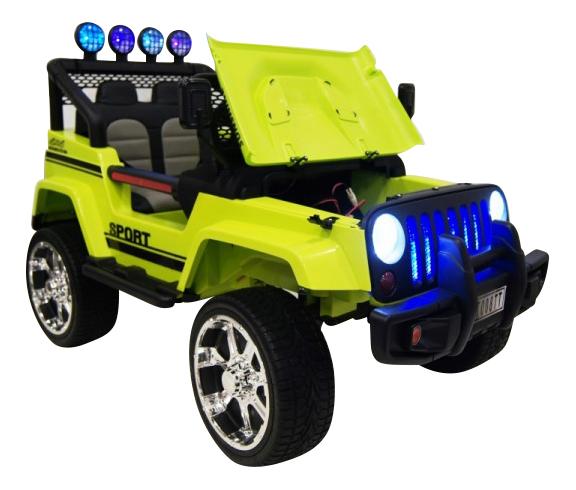 Электромобиль Jeep зеленый RIVERTOYS