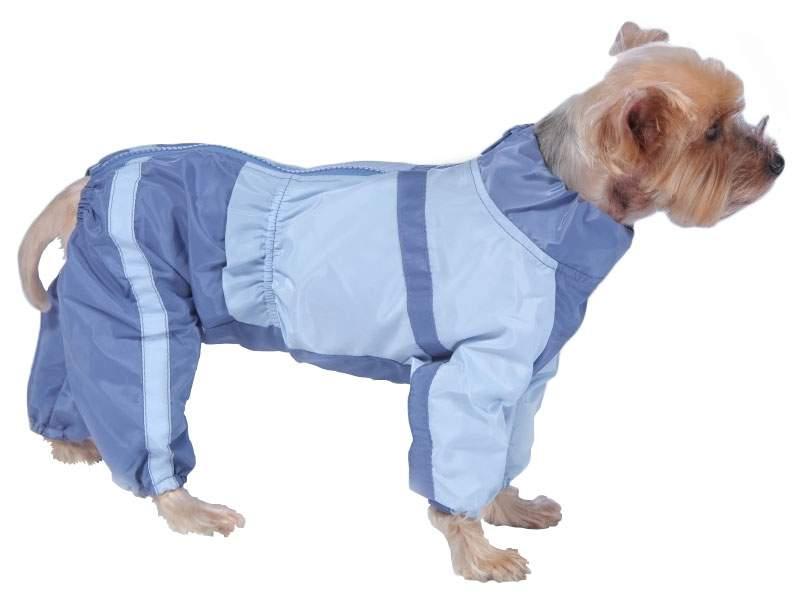 Комбинезон для собак ТУЗИК размер M женский, голубой, синий, длина спины 26 см