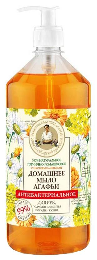 Купить Жидкое мыло Рецепты бабушки Агафьи Горчично-ромашковое антибактериальное 1 л