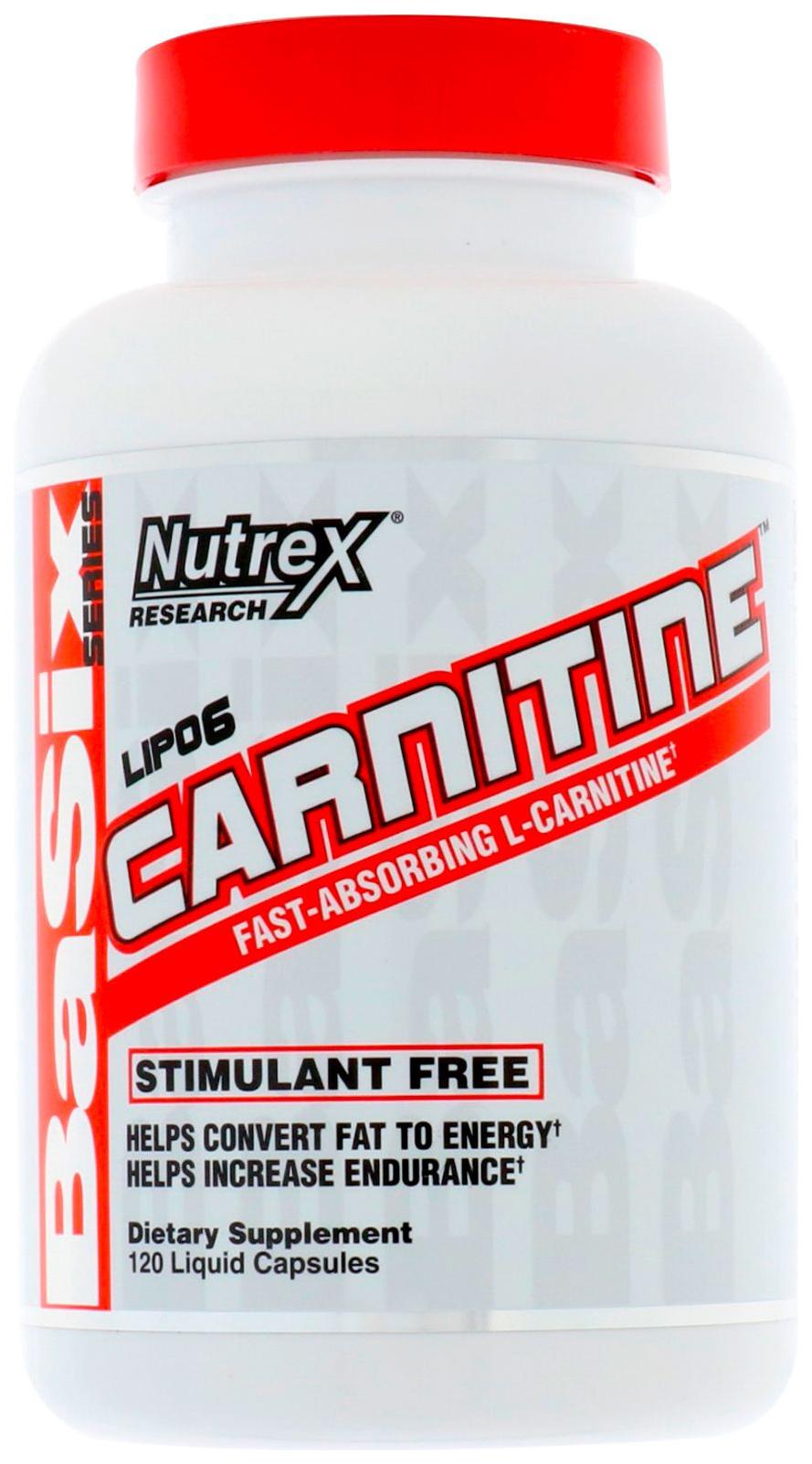 L-carnitine Nutrex Lipo 6 120 капс. натуральный