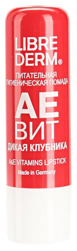 Гигиеническая помада Librederm Aevit A&E Vitamins Lipstick Дикая Клубника 4 г фото