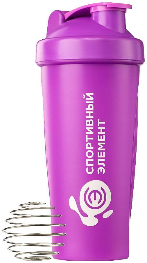 Шейкер Спортивный элемент Иолит 1 кам. 600 мл розовый