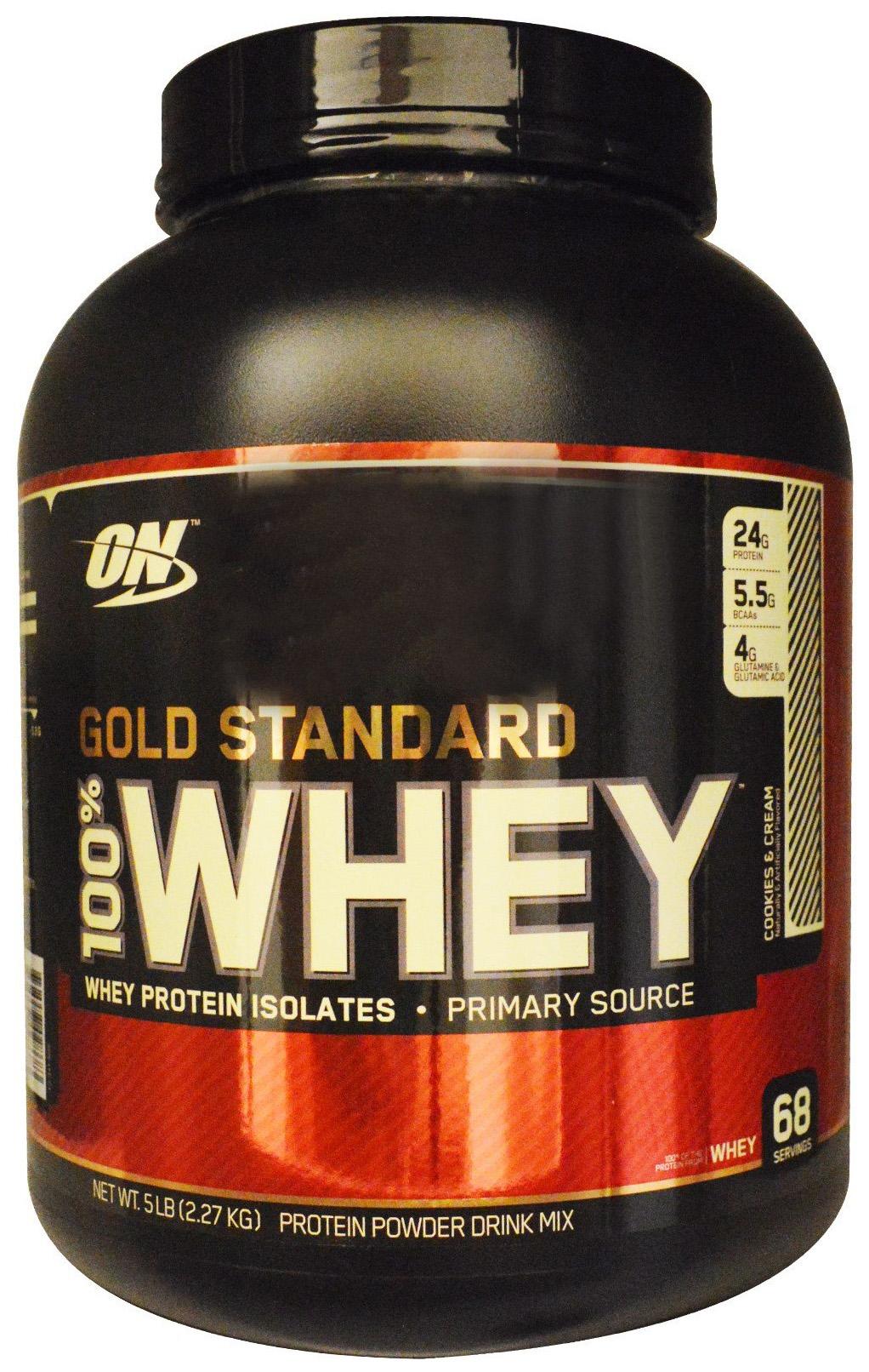 Протеин Optimum Nutrition 100% Whey Gold Standard 2270 г Cookies & Cream фото