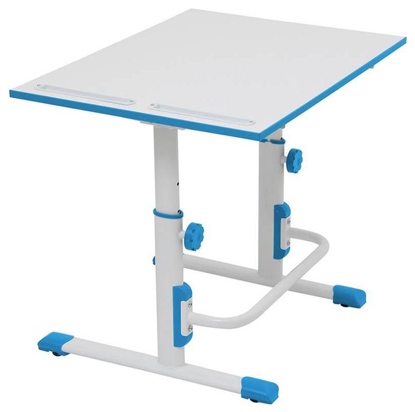 Купить М1 Белый/Синий, Детская растущая парта-трансформер Polini Kids Simple М1 75х55 см, Белый/Синий,