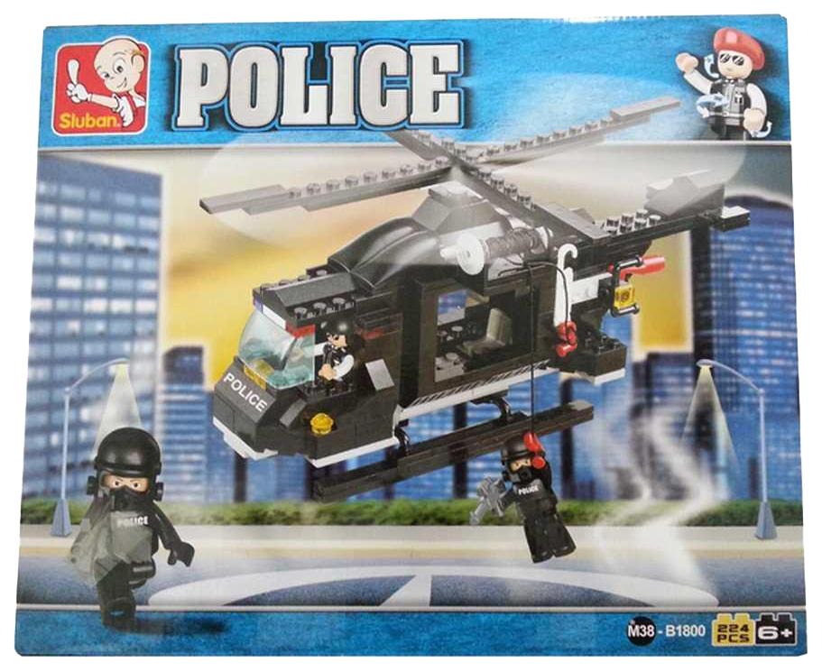 Конструктор Sluban Полиция: Вертолет 219 деталей M38-B1800