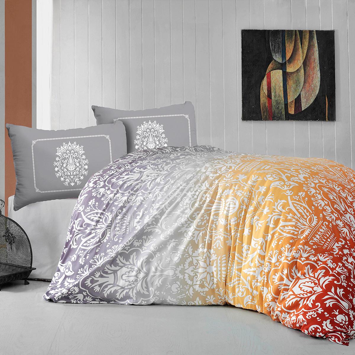 Комплект постельного белья Arya Barclay Цвет: Оранжевый (1,5 спал.)