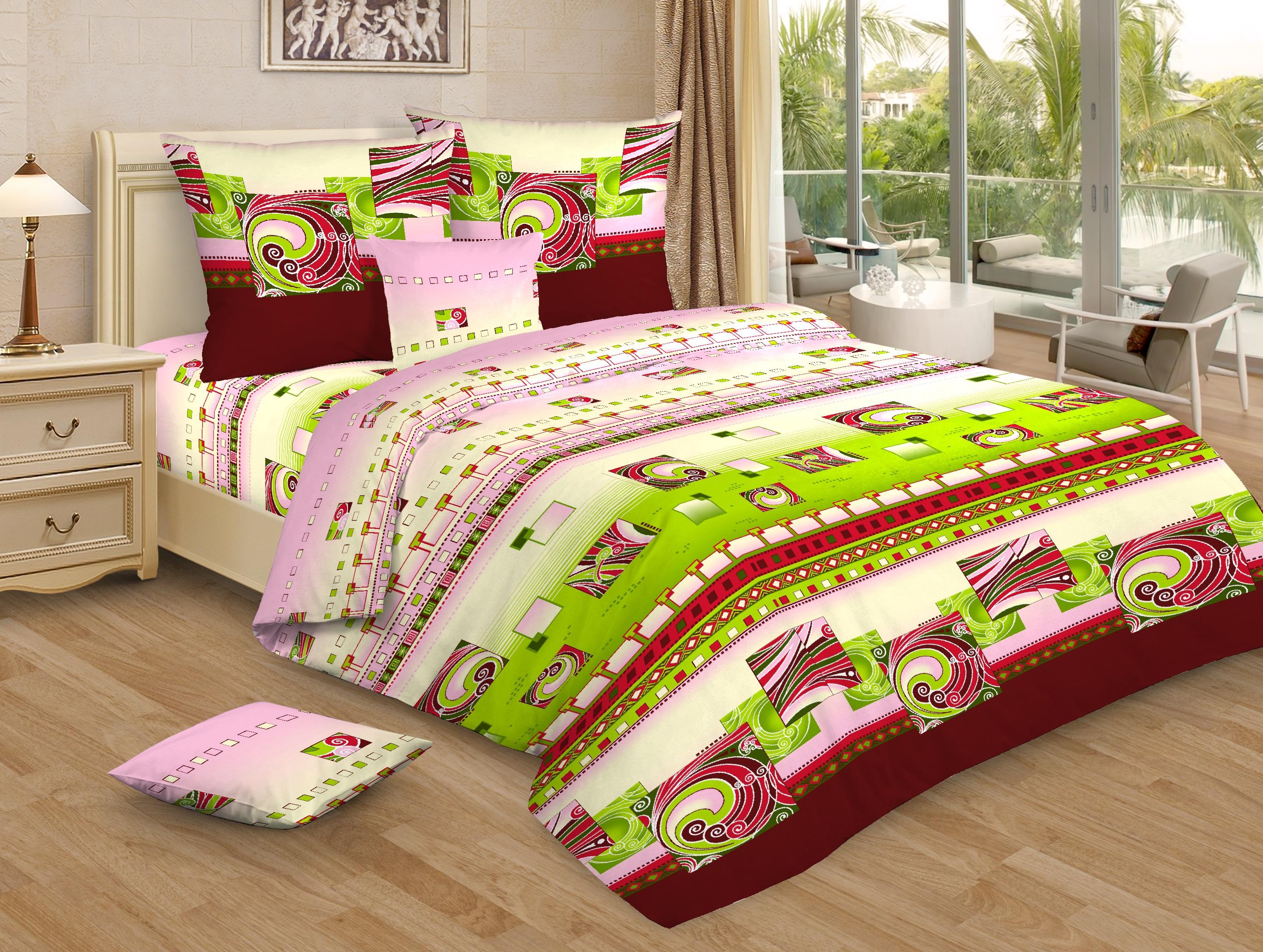 Комплект постельного белья Ночь нежна Lirika Цвет: Бордовый (2 спальное)