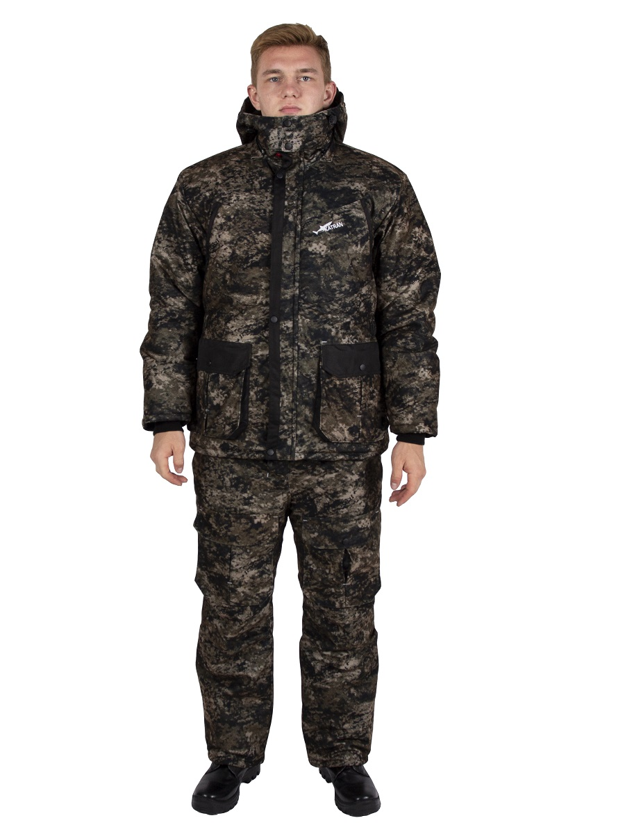 Зимний костюм для охоты и рыбалки KATRAN Даман, хаки, 56-58 RU, 182-188 см фото