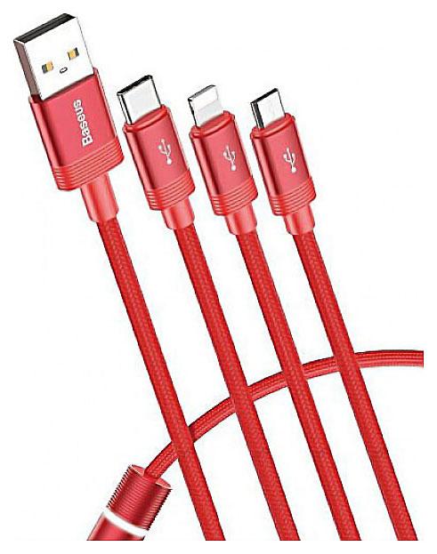 Кабель Baseus Data Faction Lightning 1.2m Red