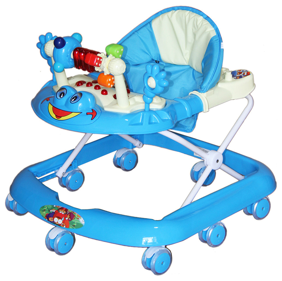 Купить Ходунки Bambola Лягушонок , цвет: голубой, Ходунки детские