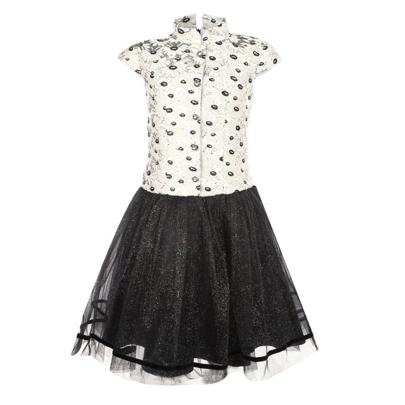 Купить Платье Одетта UNONA D'ART, цв. черный, 134 р-р, Детские платья и сарафаны