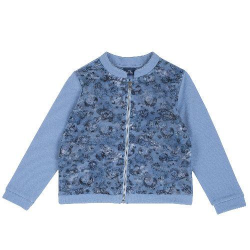 Купить 9096983, Кардиган Chicco для девочек р.92 цв.синий, Кофточки, футболки для новорожденных