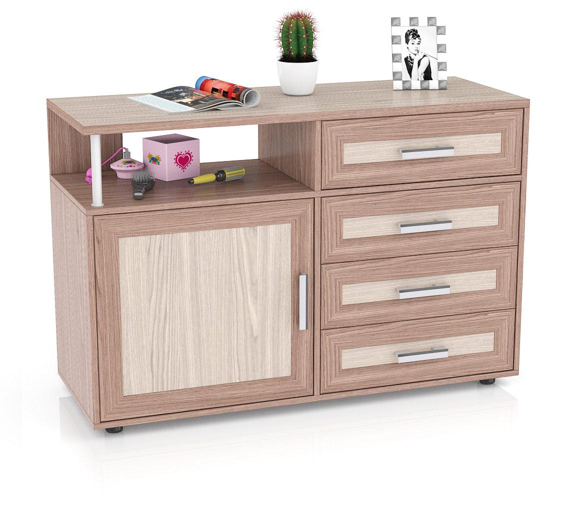 Комод Мебельный Двор К-11 120х45х80 см, ясень шимо темный