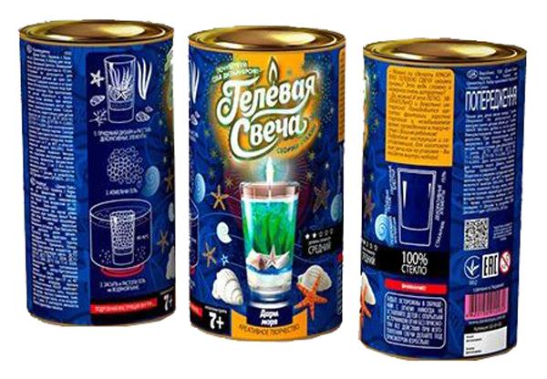 Купить Набор для творчества Danko Toys Гелевая Свеча своими руками Набор 3, с ракушками, Рукоделие