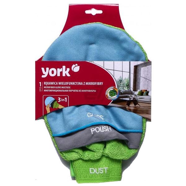 Салфетка перчатка YORK из микрофибры 3