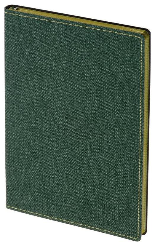Ежедневник недатированный Attache «Твид», А5, 128 листов, линия, зеленый