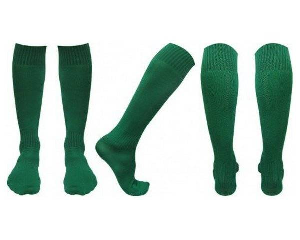 Гольфы футбольные С003 зеленые 41 43 RU