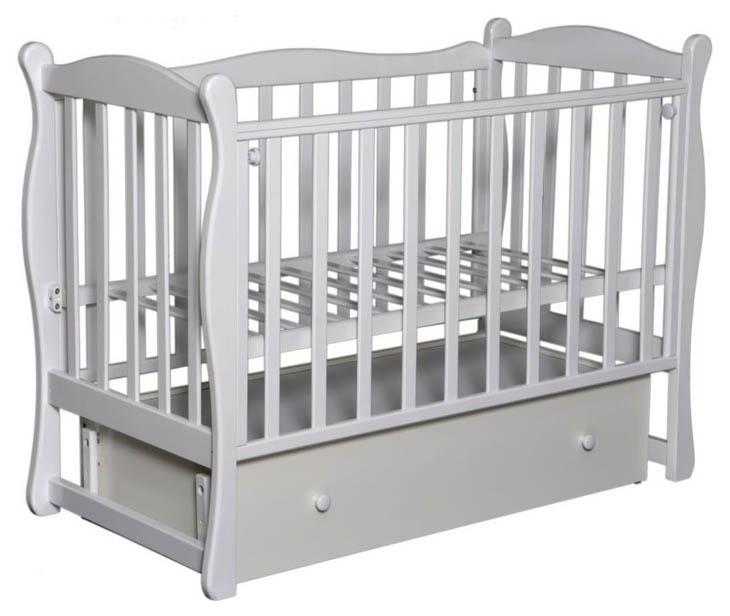 Кровать детская Антел Северянка 2 Автостенка, маятник поперечного качания