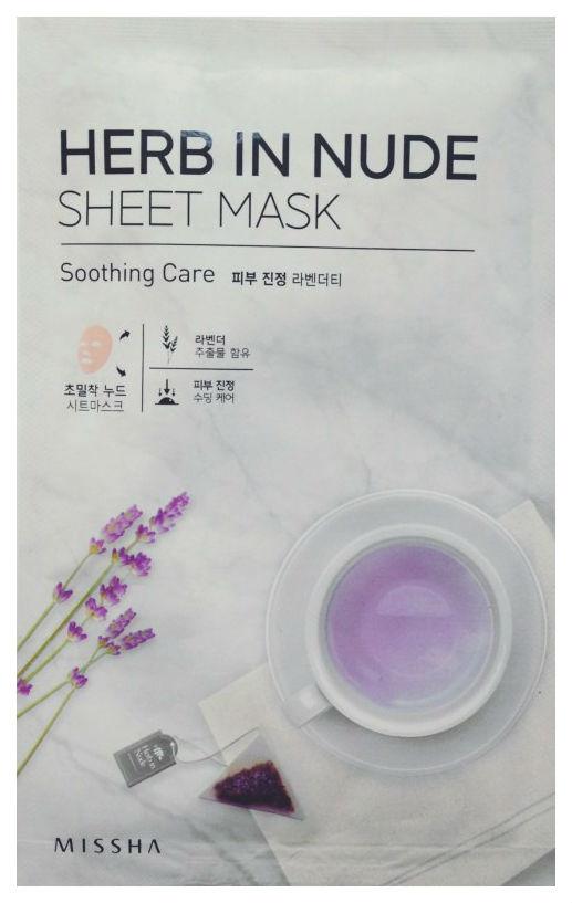 Маска для лица Missha Herb In Nude Sheet Mask Soothing Care 23 г