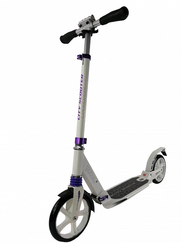 Купить Городской самокат Sportsbaby City Scooter MS-106 белый, Самокаты детские двухколесные