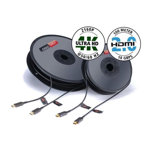 Кабель цифровой аудио-видео Profi HDMI 2.0 LWL 18Gbps 10,0 м