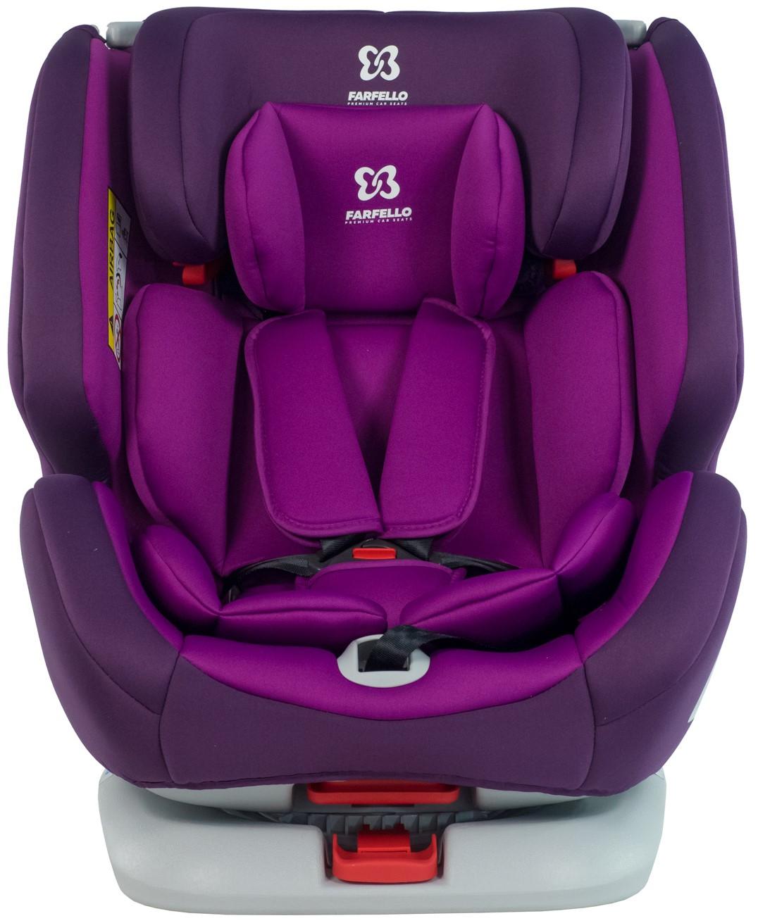 Автокресло детское Farfello, цв. фиолетовый KS-2190 p