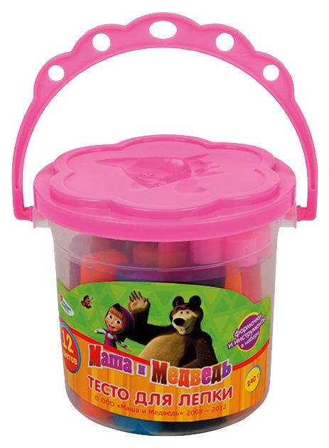 Купить Паста для лепки Multi Art 24012PD-MM Маша и Медведь 12 цветов, Лепка