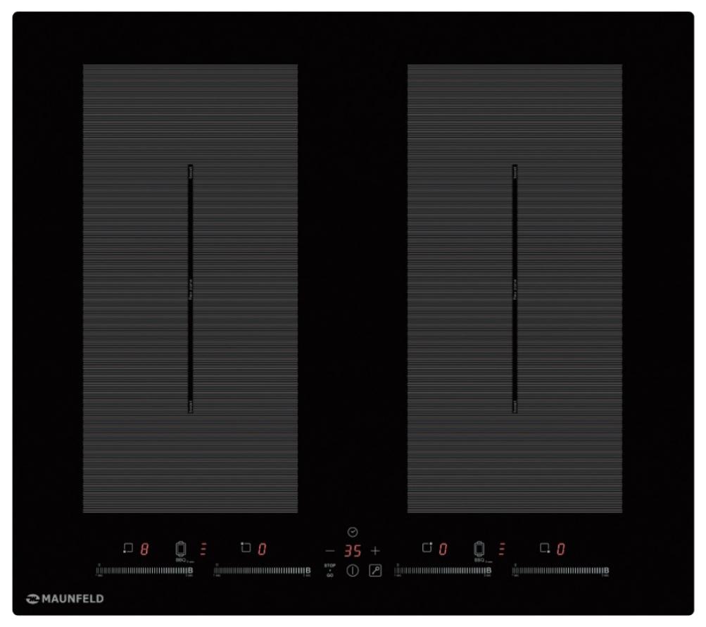 Встраиваемая варочная панель индукционная MAUNFELD EVI.594.FL2(S)-BK Black фото