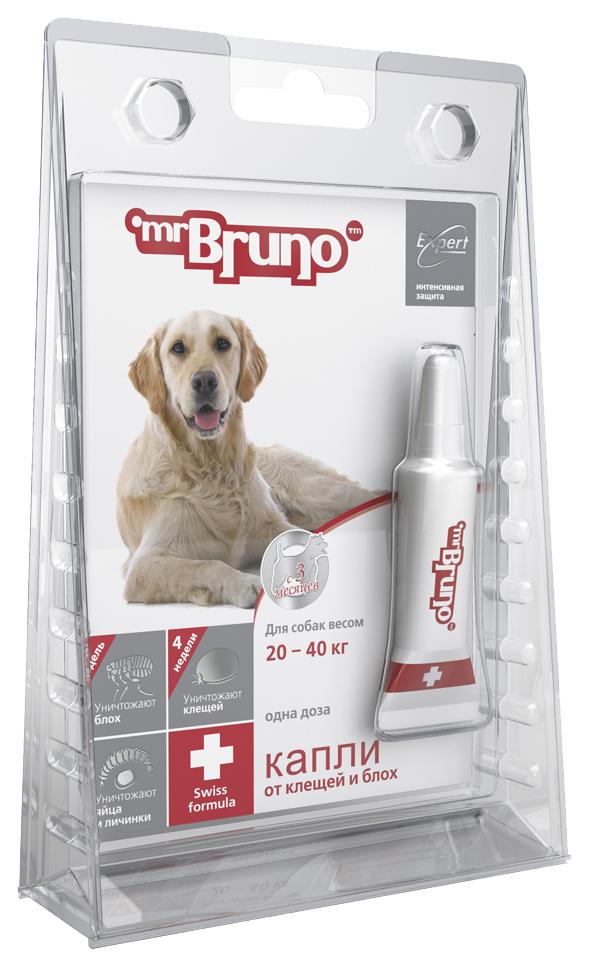 Средство от блох для домашних животных Mr. Bruno Plus капли для собак