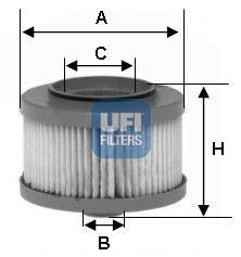 Фильтр топливный UFI 26.013.00