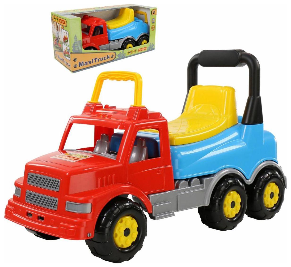 Купить Детский транспорт, Каталка-автомобиль Wader Буран №2 красный голубой,