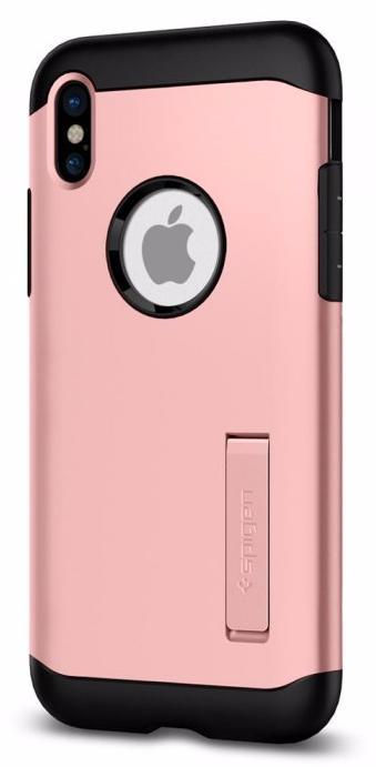 Чехол Spigen Slim Armor (057CS22139) для Apple iPhone X (Rose Gold) фото