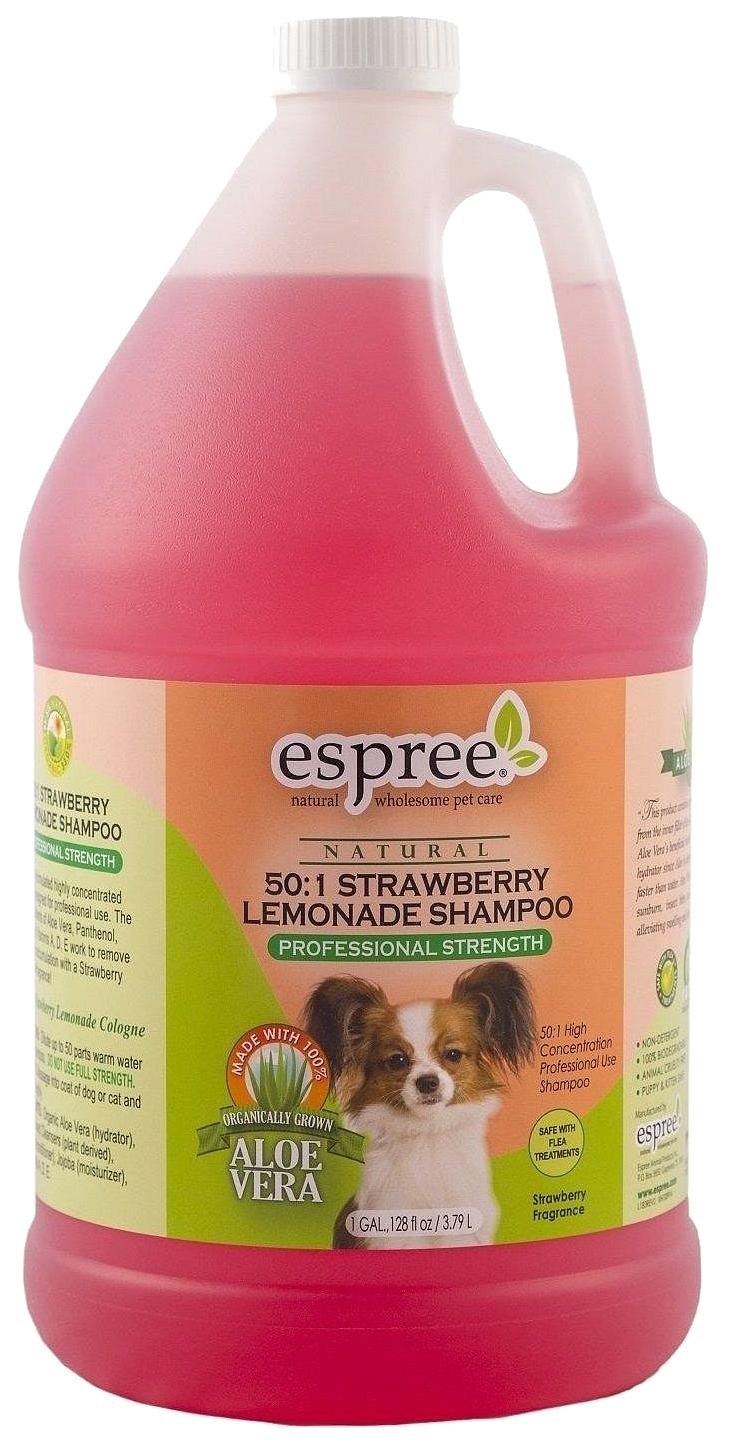Шампунь для кошек и собак Espree Natural Strawberry Lemonade суперконцентрат 37 л.
