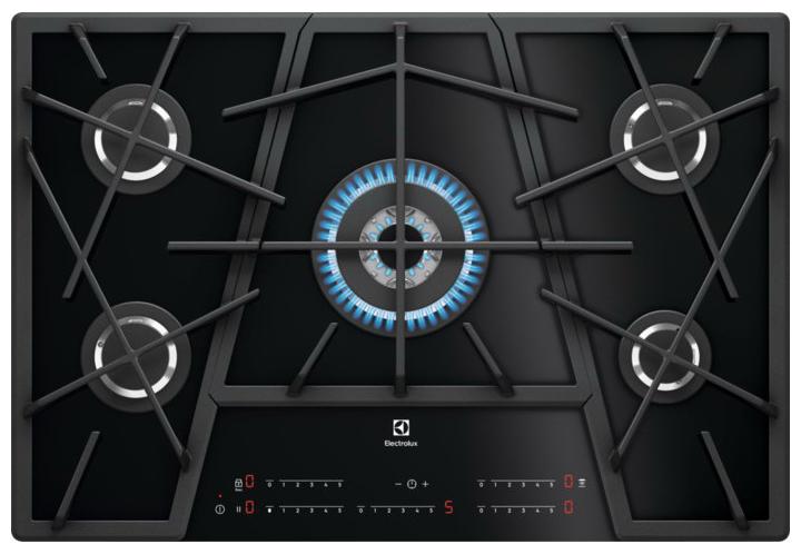Встраиваемая варочная панель газовая Electrolux KGV7539IK Black фото