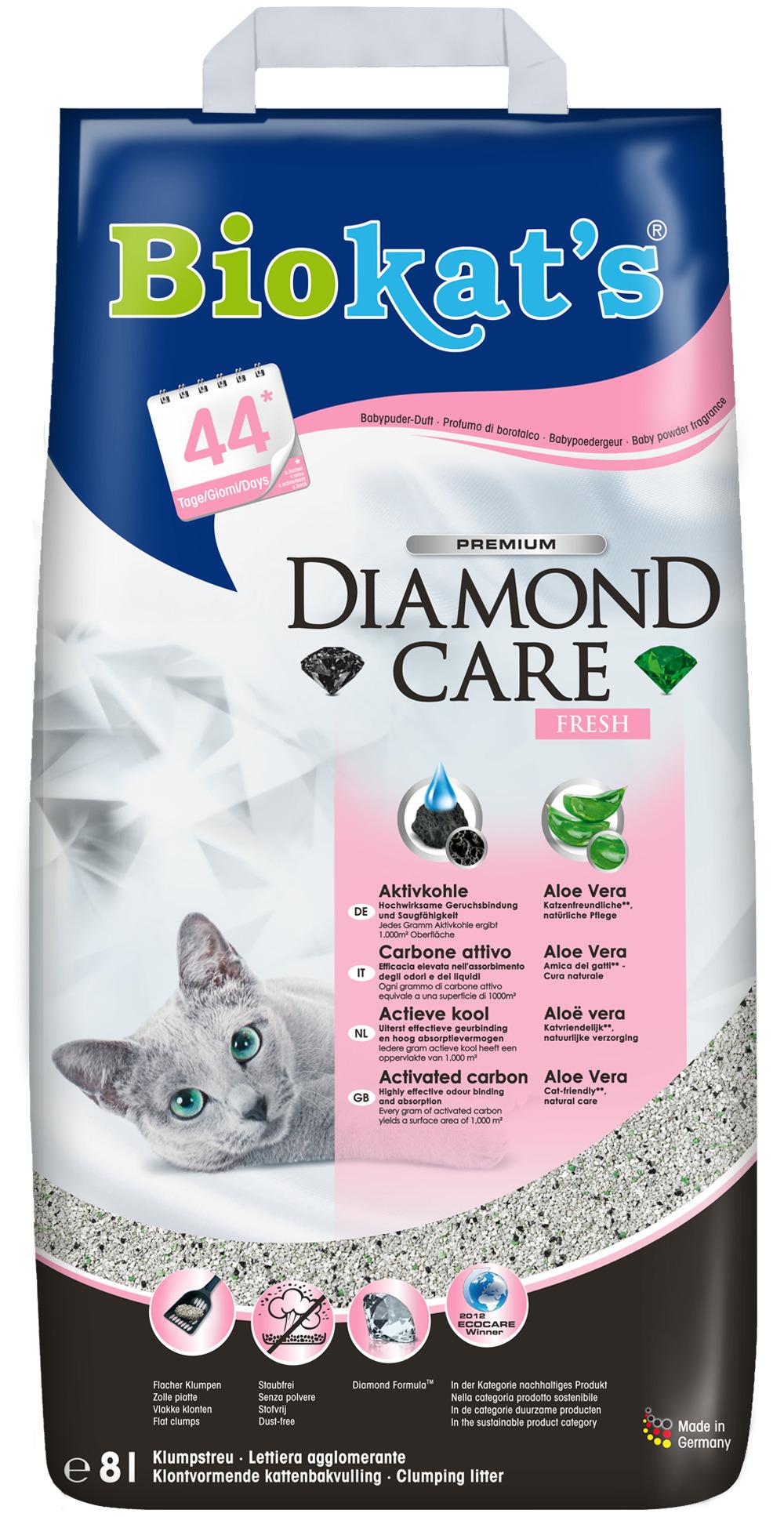 Комкующийся наполнитель для кошек Biokat's Черный бриллиант,
