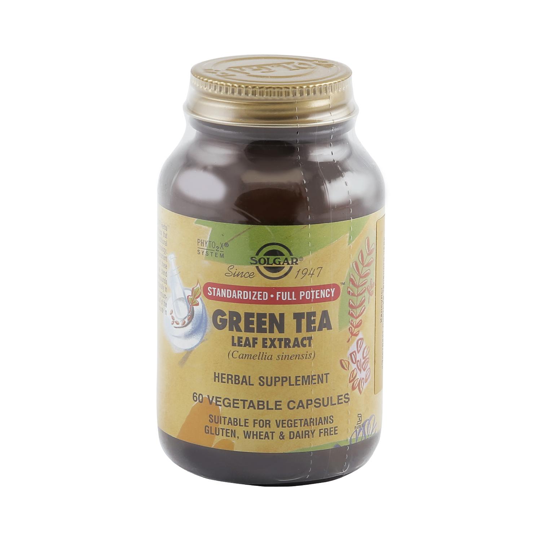 Экстракт листьев зеленого чая Solgar 60 капсул