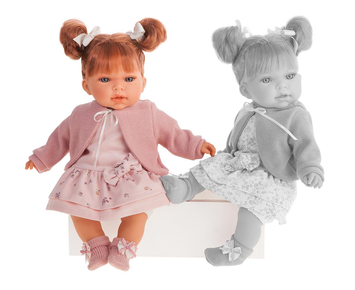 Купить Кукла Antonio Juan Альма в розовом со звуком 37 см, Классические куклы