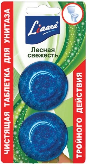 Чистящая таблетка для унитаза Liaara лесная свежесть
