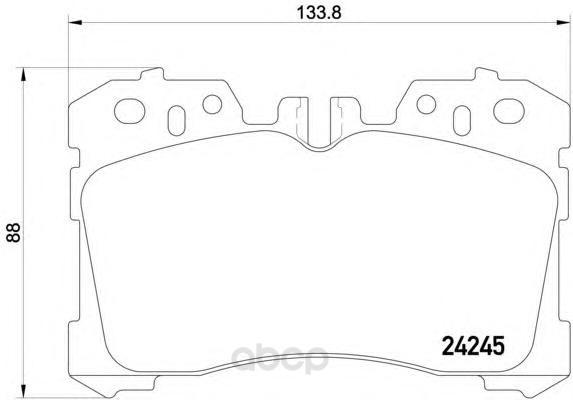 Колодки тормозные дисковые передние lexus ls 06- Textar 2424501 фото