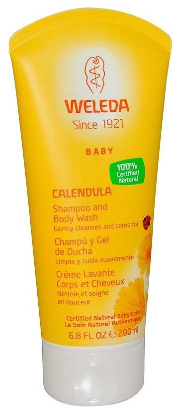 Детский шампунь-гель Weleda с календулой для волос и тела 200 мл