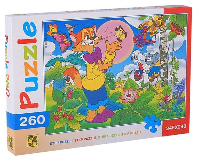 Купить Пазл Step Puzzle 260 элементов. Кот Леопольд 74019, Пазлы