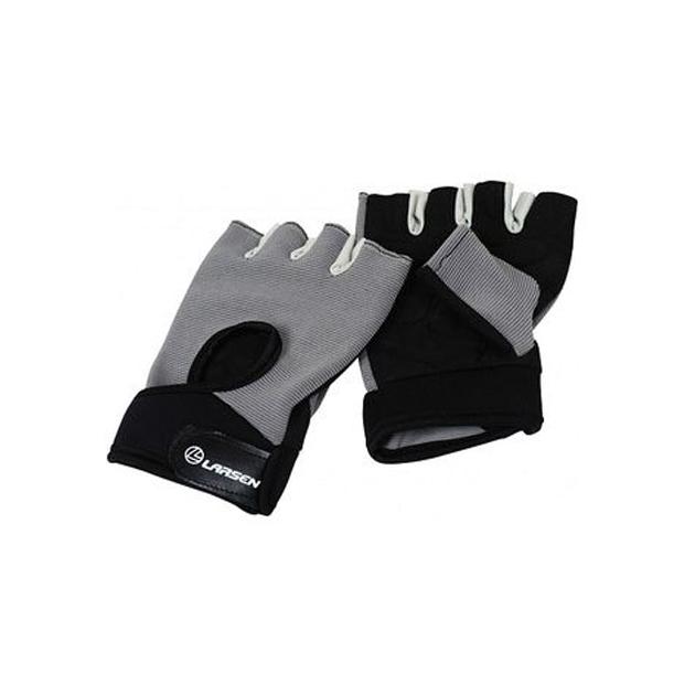 Перчатки для фитнеса Larsen NT558G черно серые M