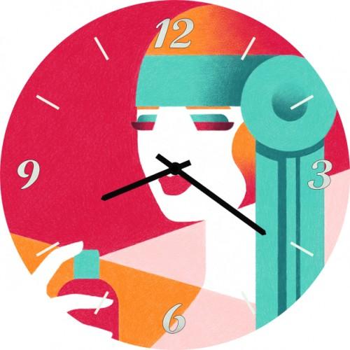 Часы настенные SvS 3501763 Женщина с флаконом