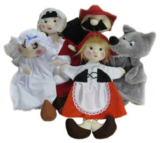 Игровой набор Тайга Кукольный театр Красная шапочка 5 персонажей