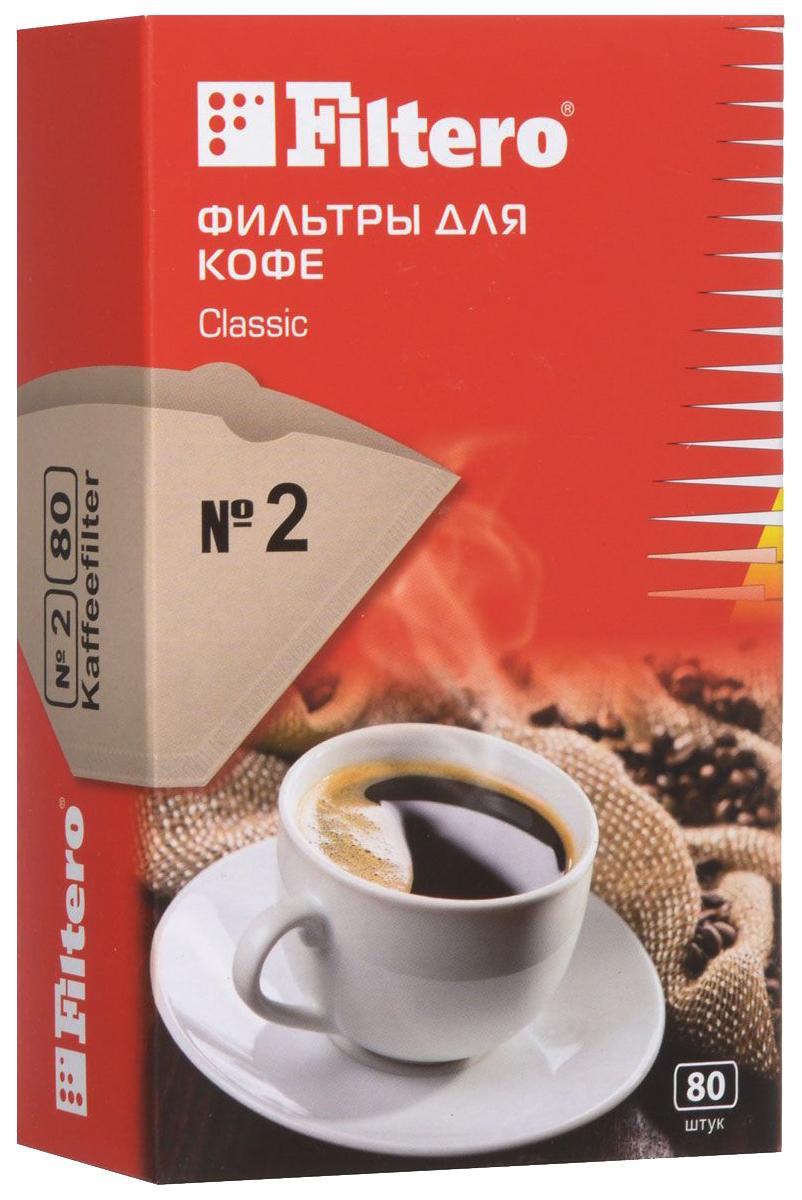 Фильтр универсальный для кофеварок Filtero №2/80