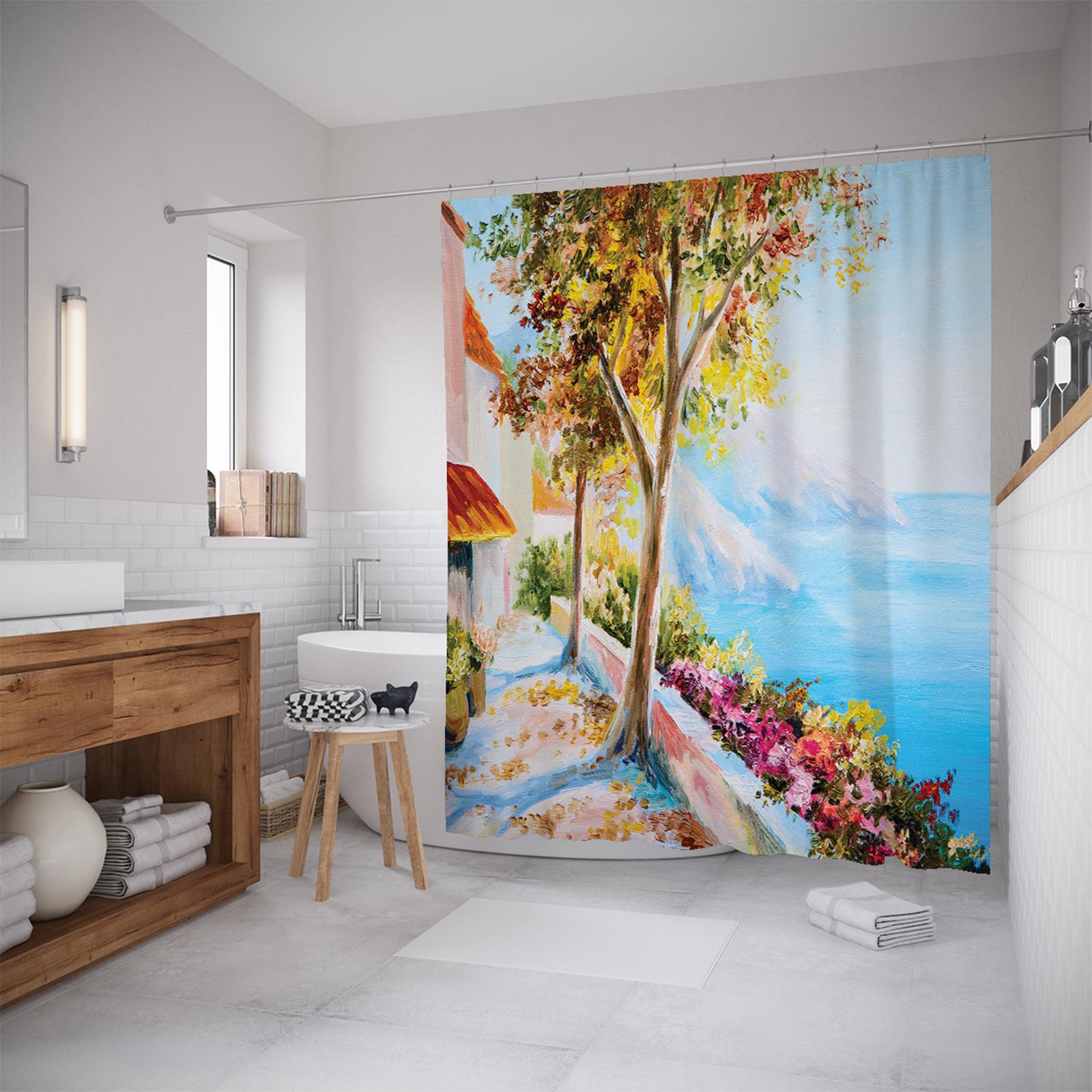 Шторы для ванной JoyArty «Дача у моря» 180x200 см