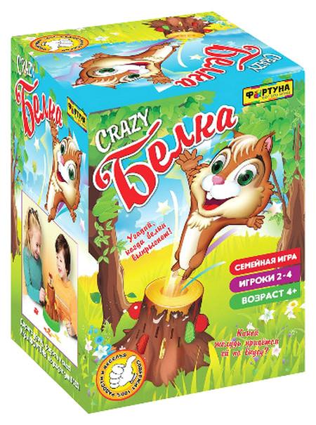 Купить Семейная настольная игра Фортуна Crazy Белка Ф70000, Семейные настольные игры