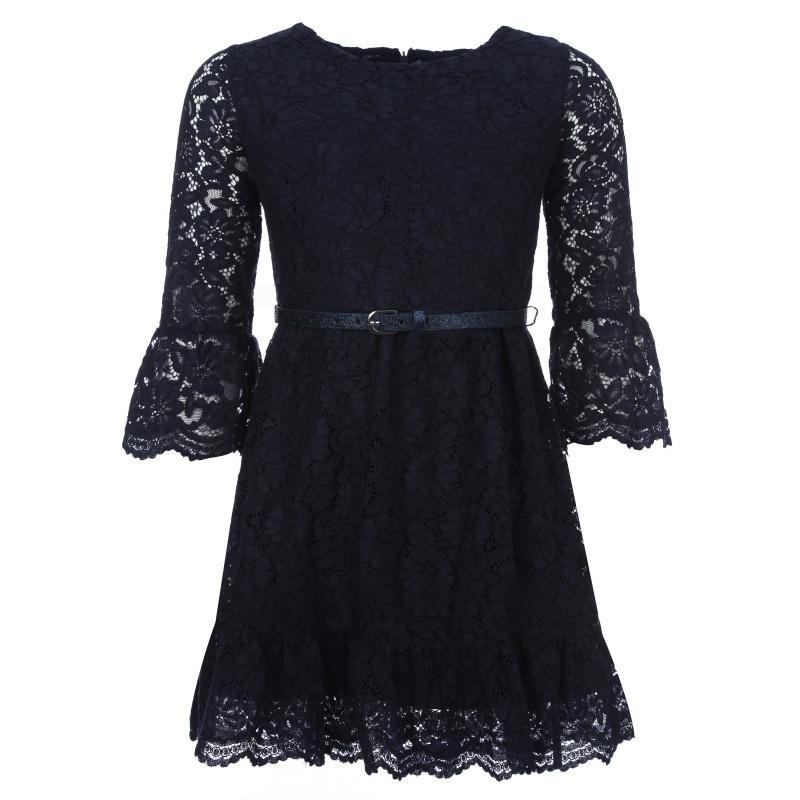 Купить 7, 930/90, Платье Mayoral темно-синий р.157, Платья для девочек