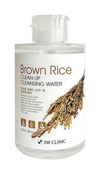 Купить Средство для очищения 3W Clinic Brown Rice Clean-Up Cleansing Water 500 мл